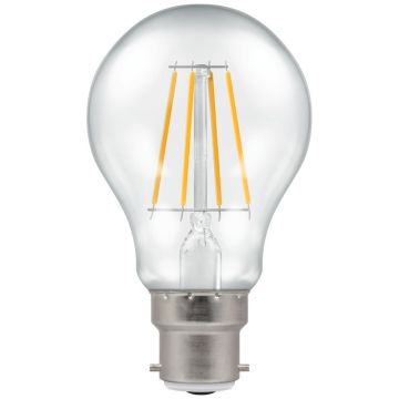 Crompton LED Classic GLS Filament Bulb, B22d, 5W, Dimmable, Warm White, Clear Glass