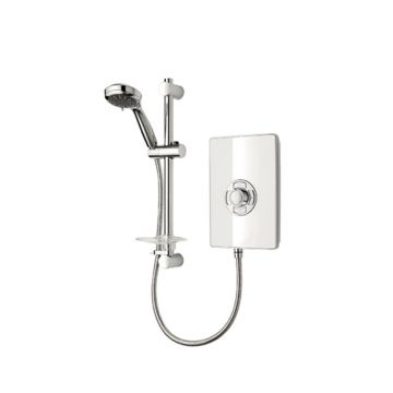 Triton Aspirante Electric Shower, 9.5 kW White Gloss