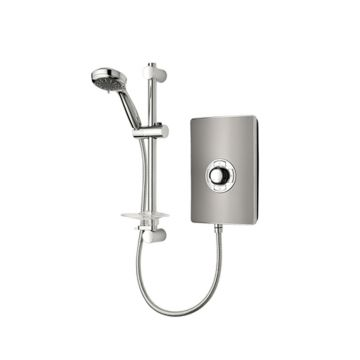Triton Aspirante Electric Shower, 9.5 kW Gun Metal