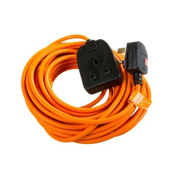 BG Masterplug Heavy Duty Extension Lead, Orange, 10m