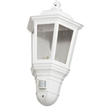 Timeguard LED PIR Half Carriage Lantern, 4W, White