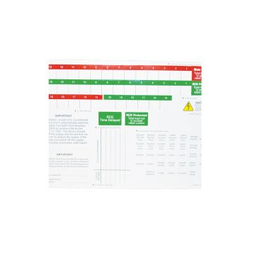 BG Consumer Unit Spare Label Sheets, Pack of 5