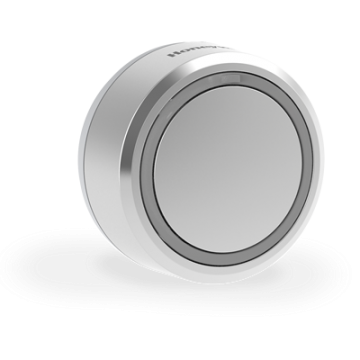 Honeywell Home Round Wireless Push Button with LED Confidence Light, Grey