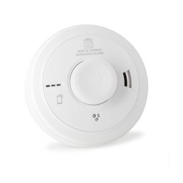 Aico Ei3028 Multi-Sensor Heat and Carbon Monoxide (CO) Alarm, Wired with 10-Year Battery Back-Up