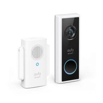 Eufy Video Doorbell 1080p and Chime, Battery, Black
