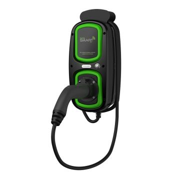Rolec EVHS2080 Wallpod EV HomeSmart Charger, 16A, GPRS, 5m IEC 62196 Lead, OLEV