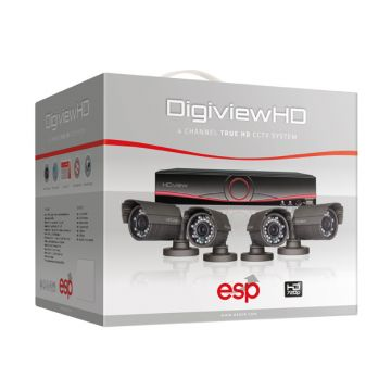 ESP DigiviewHD 4 Channel True HD CCTV System (Bullet Cameras)