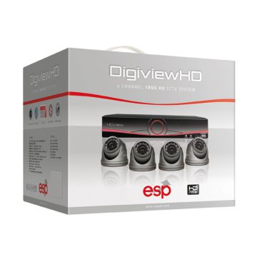 ESP DigiviewHD 4 Channel True HD CCTV System (Dome Cameras)