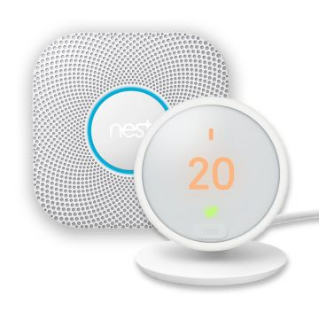 Nest® Protect 2nd Generation Smoke & Carbon Monoxide Alarm, Battery & Thermostat E Special Offer
