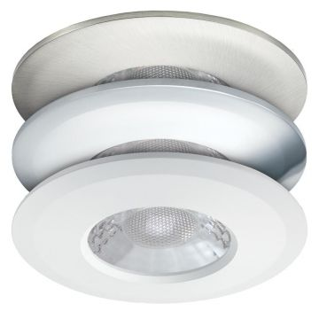 JCC V50 LED Fire Rated Downlight, Fixed Position, Wide Angled Beam, Tuneable White LED, 3 Bezels