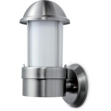 JCC NiteLED Dome Plain Wall Light, 8.5W, Cool White, Stainless Steel