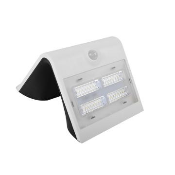 Luceco Guardian LED Solar PIR Wall Light, White, 400LM