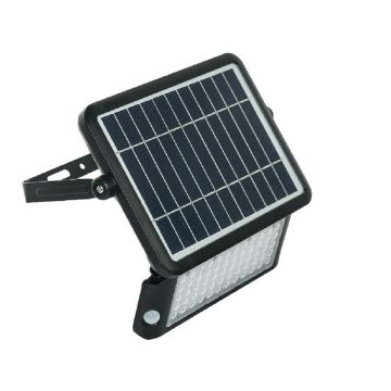 Luceco Guardian LED Solar PIR Floodlight, Black, 10W, 1080LM