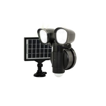 Luceco LED Solar PIR Twin Security Light, 4W, 400Lm