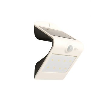 Luceco Guardian LED Solar PIR Wall Light, White, 180LM