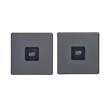 MiHome Single (1 Gang) Master & Slave Light Switches, Black Nickel (DISCONTINUED)