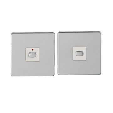 (Discontinued) MiHome Single (1 Gang) Master & Slave Light Switches, Chrome