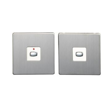 MiHome Single (1 Gang) Master & Slave Light Switches, Brushed Steel