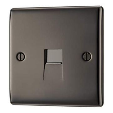 Nexus Metal Single Telephone Socket, Master, Black Nickel