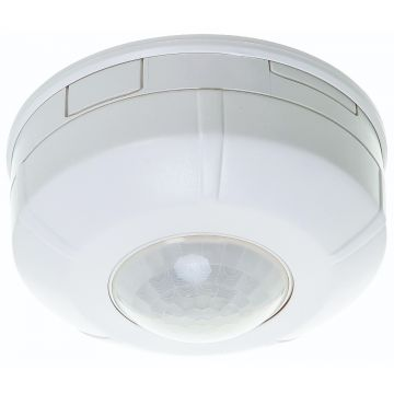 Timeguard 360° Surface Mount Round PIR Presence Detector, 2300W, White