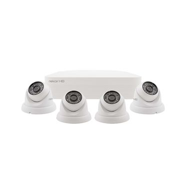 ESP Rekor HD 4 Channel HD CCTV System (White Dome Cameras)