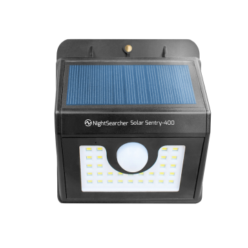 NightSearcher Solar Sentry 400 Motion Sensor Wall Light, 400 Lumens