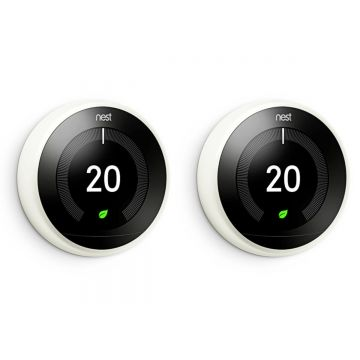 Google Nest T3020GB Learning Thermostat - 3rd Generation, White - TWIN PACK