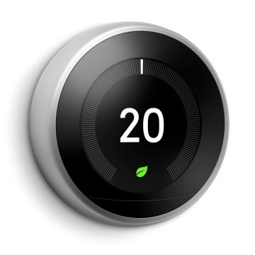Google Nest T3028GB Learning Thermostat - 3rd Generation, Silver