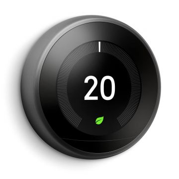 Google Nest T3029EX Learning Thermostat - 3rd Generation, Black