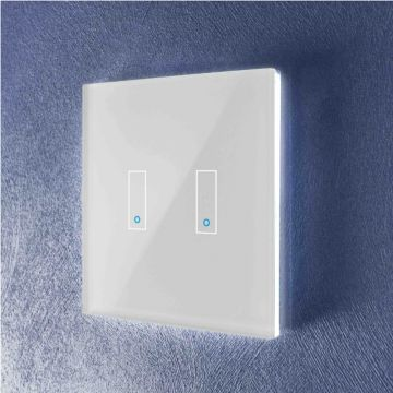 Iotty Double (2 Gang) Smart Light Switch, White