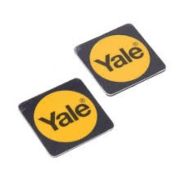 Yale Phone Tags, Black, Twin Pack